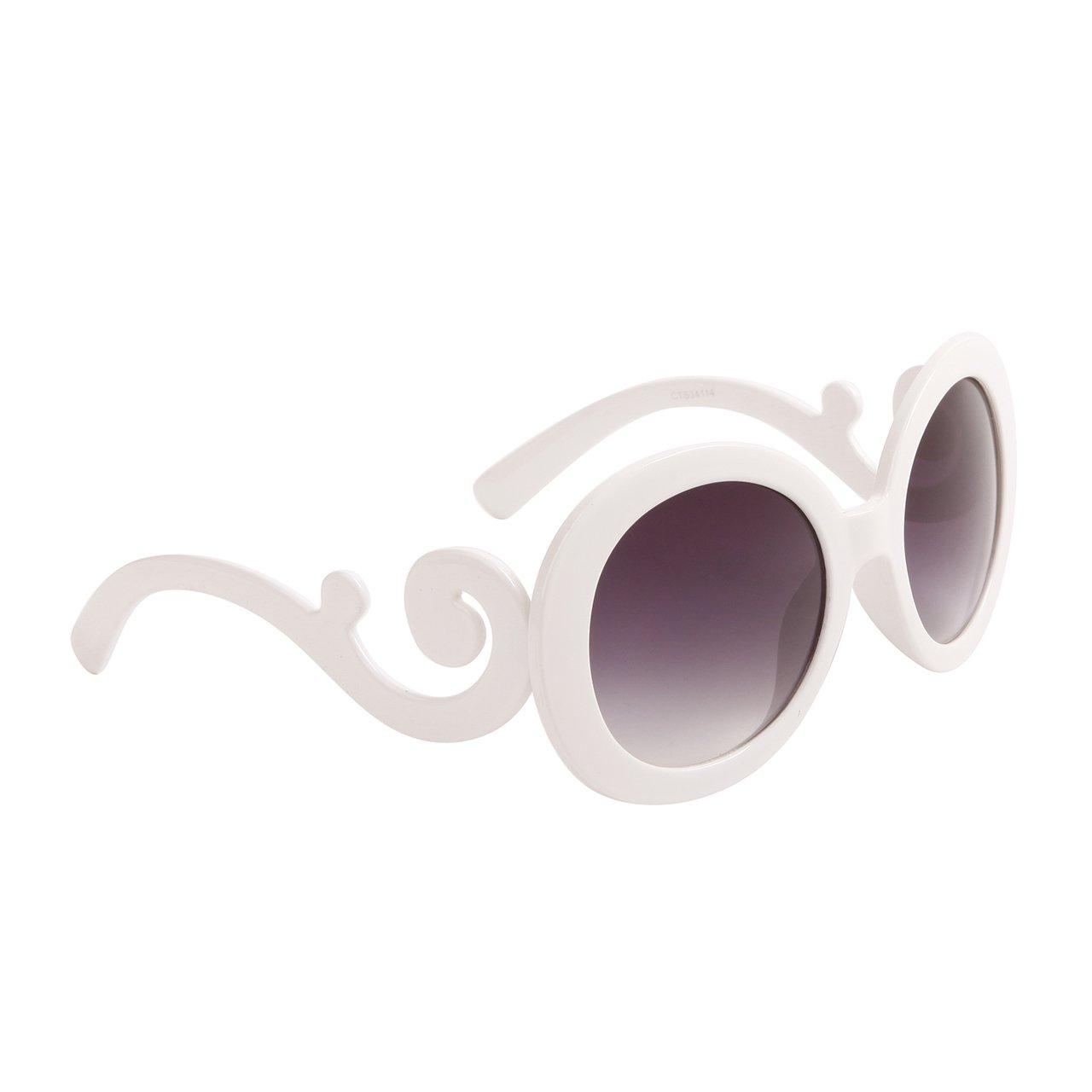 DESIGNER INSPIRED WOMEN'S SUNGLASSES WHITE FRAME TOP QUALITY UV PROTECTION