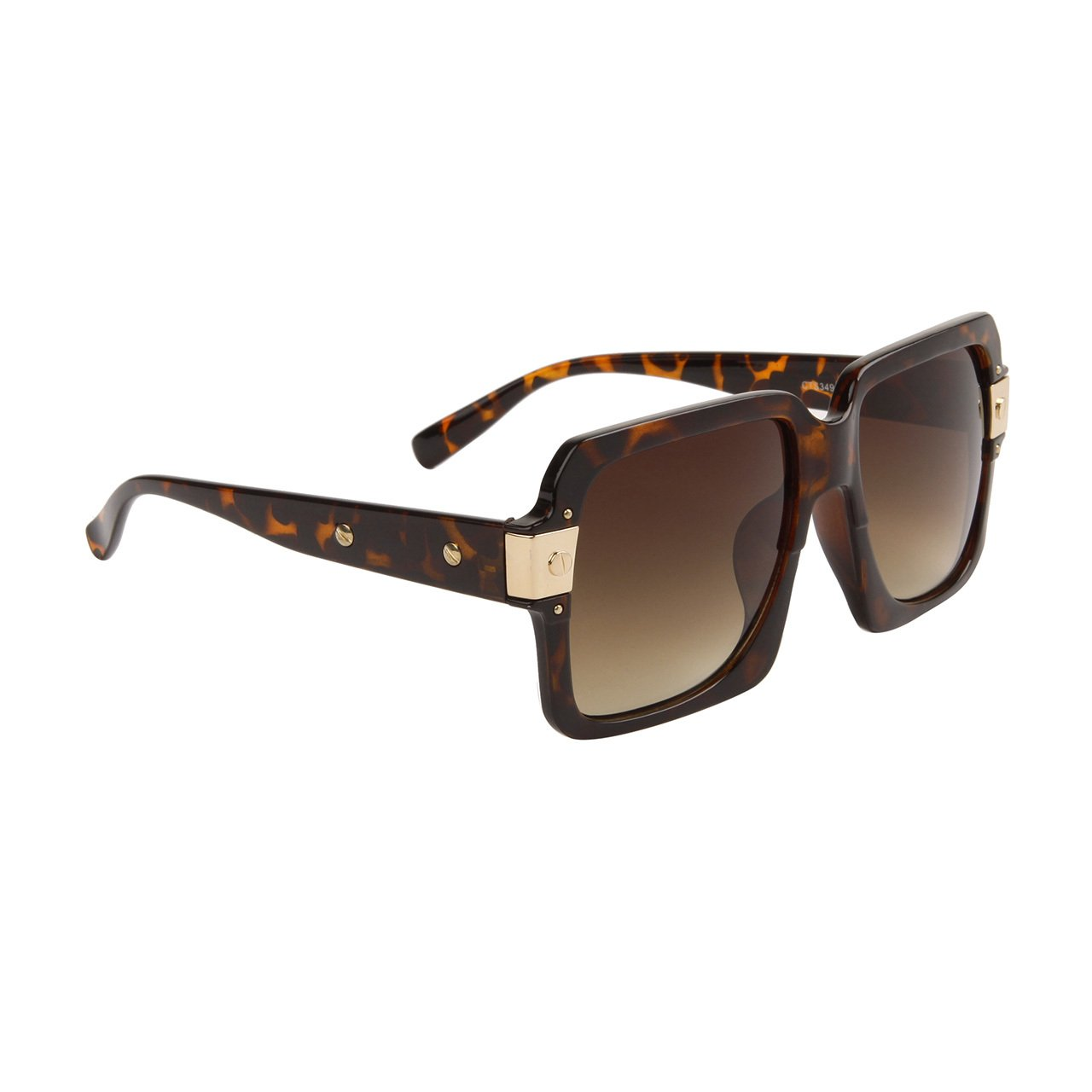 WOMEN'S LARGE DESIGNER INSPIRED BROWN SQUARE SUNGLASSES TOP DEPARTMENT STORE QUALITY