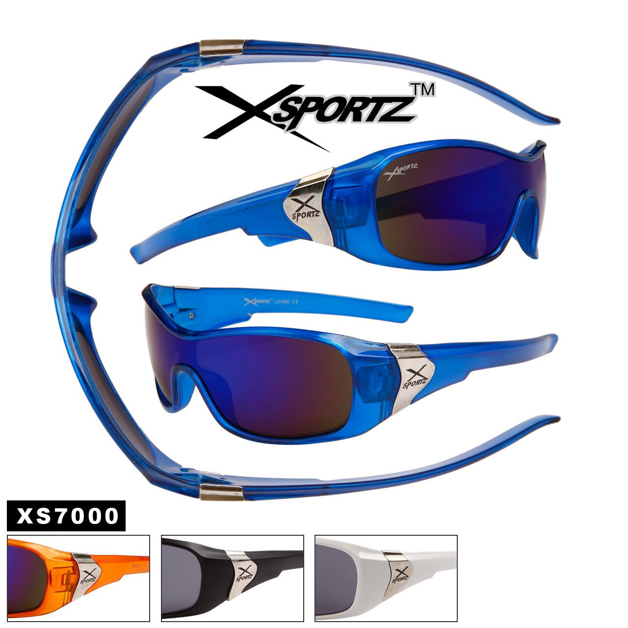 MEN'S DESIGNER INSPIRED BLUE SPORTY XSPORT SUNGLASSES