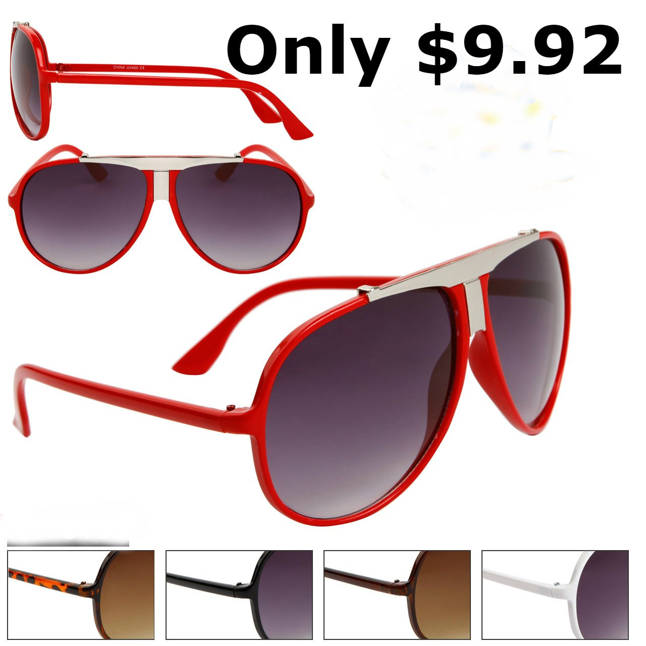 MEN'S DESIGNER INSPIRED MILLIONAIRE LOOK RED SUNGLASSES