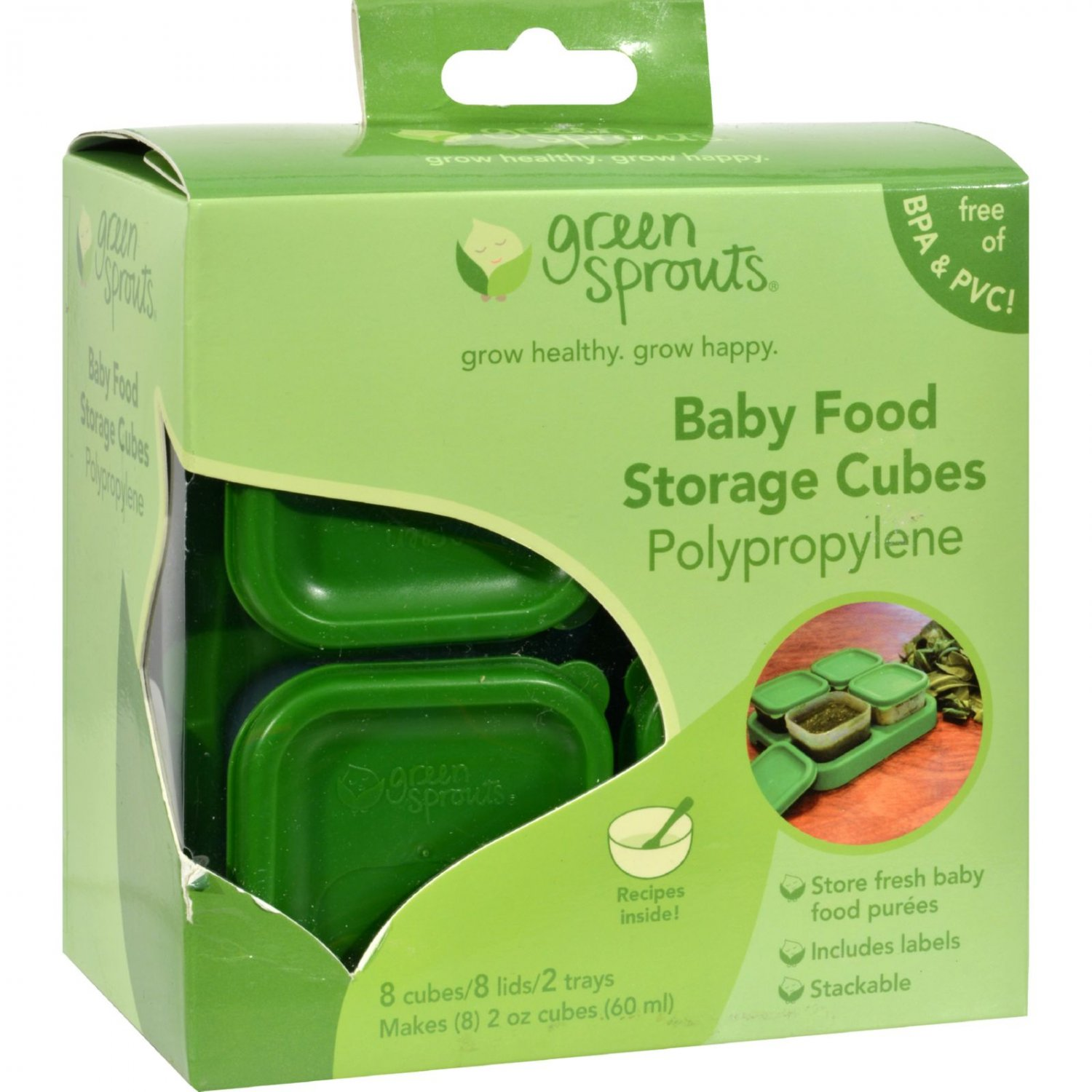 Green Sprouts Food Storage Cubes - 8 Pack