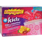 Alacer Emergen-C Kidz Vitamin C Fizzy Drink Mix Fruit Punch - 250 mg - 30 Packets