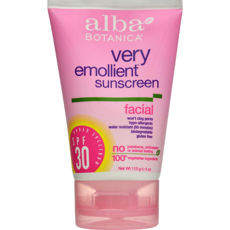 Alba Botanica Very Emollient Sunblock Facial SPF 30 - 4 fl oz