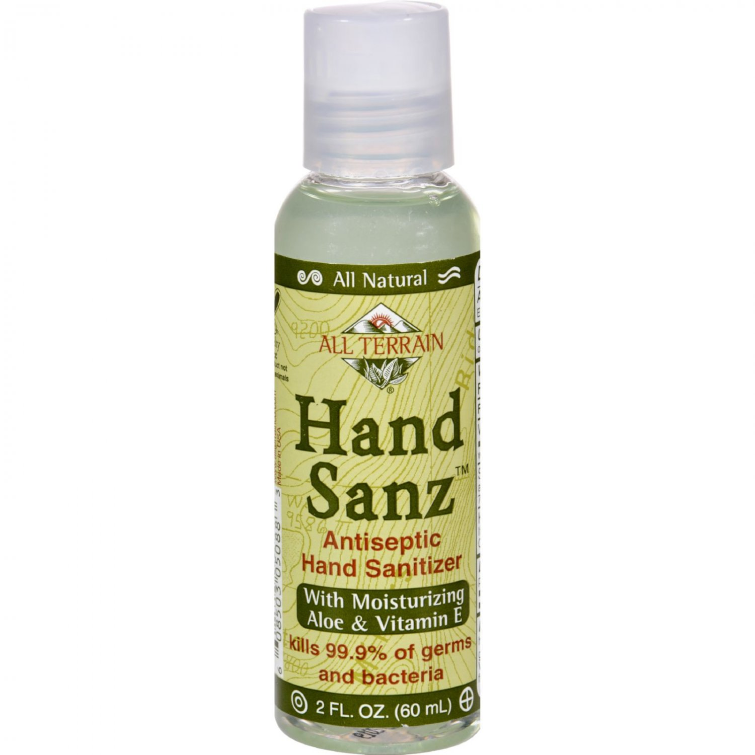 All Terrain Antiseptic Hand Sanitizer with Aloe and Vitamin E - 2 oz