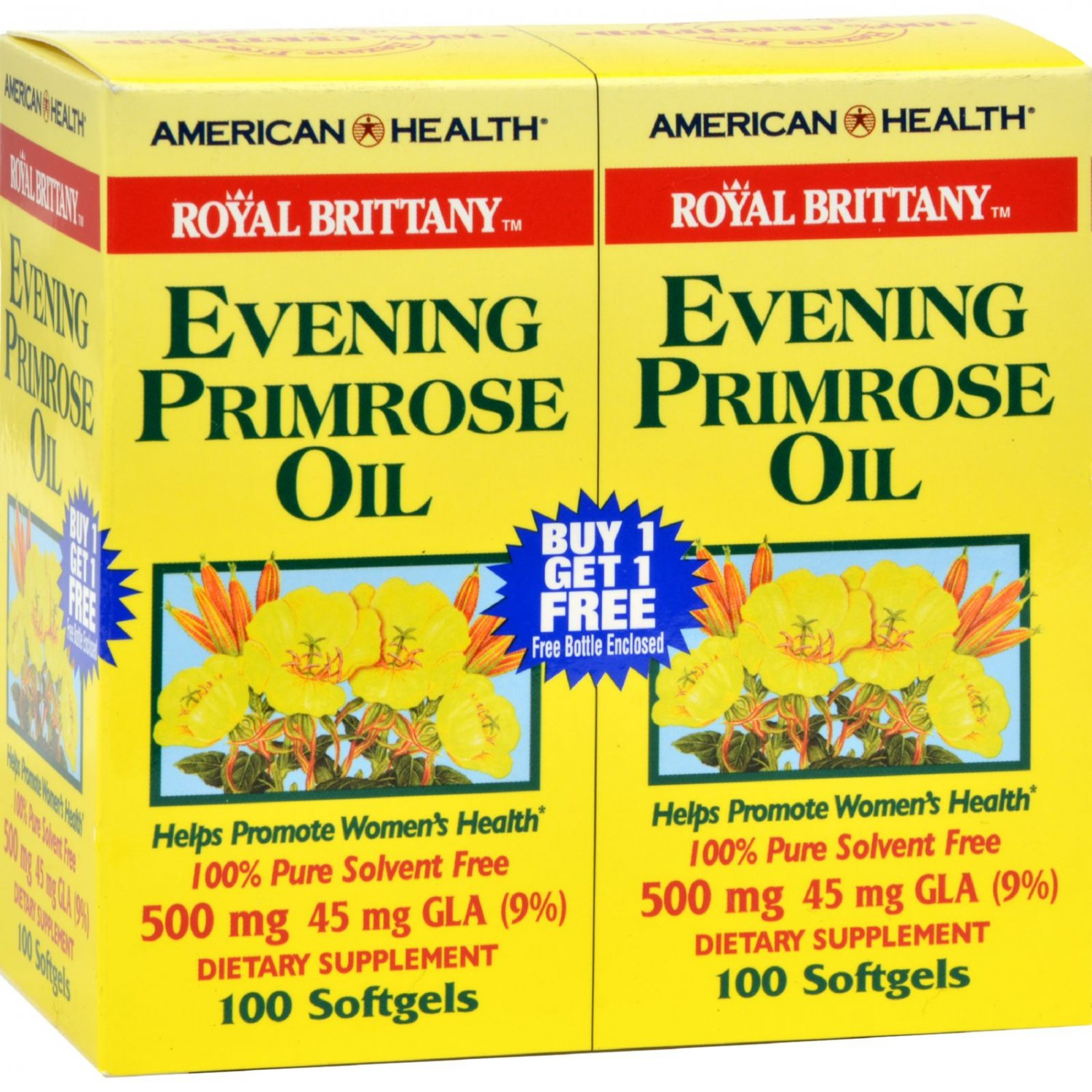 American Health Royal Brittany Evening Primrose Oil 100+100 Softgels