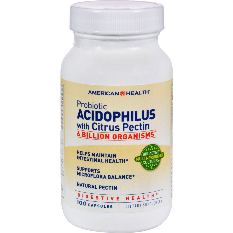 American Health Probiotic Acidophilus with Pectin - 100 Capsules