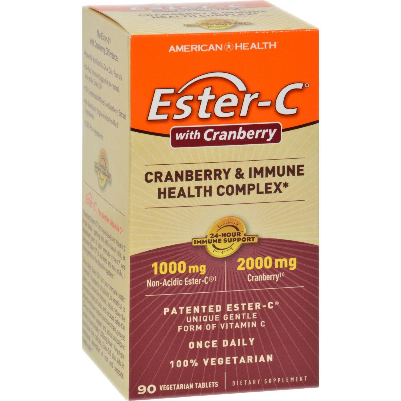 American Health Ester-C Urinary Tract Formula - 90 Vegetarian Tablets