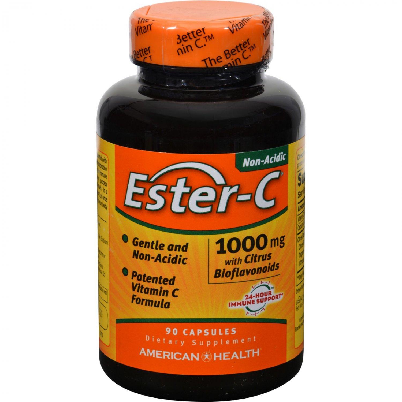 American Health Ester-C with Citrus Bioflavonoids - 1000 mg - 90 Capsules