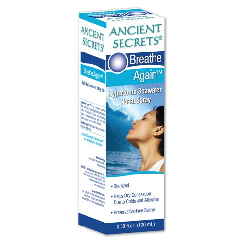 Ancient Secrets Breathe Again Nasal Spray - 3.38 fl oz