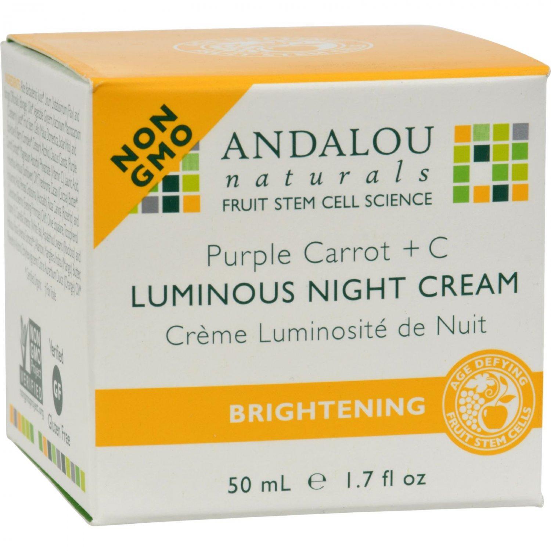 Andalou Naturals Luminous Night Cream Purple Carrot + C - 1.7 oz