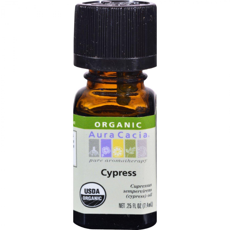 Aura Cacia Organic Essential Oil - Cypress - .25 oz