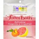 Aura Cacia Foam Bath Refeshing Tangerine and Grapefruit - 2.5 oz - Case of 6