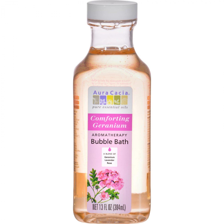 Aura Cacia Aromatherapy Bubble Bath Comforting Geranium - 13 fl oz