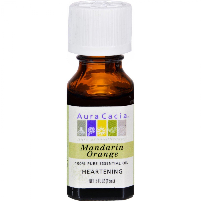 Aura Cacia 100% Pure Essential Oil Mandarin Orange - 0.5 fl oz