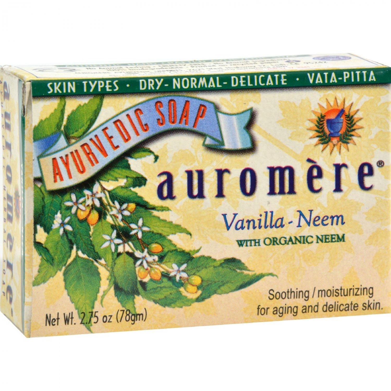 Auromere Bar Soap - Ayurvedic - Vanilla Neem - 2.75 oz