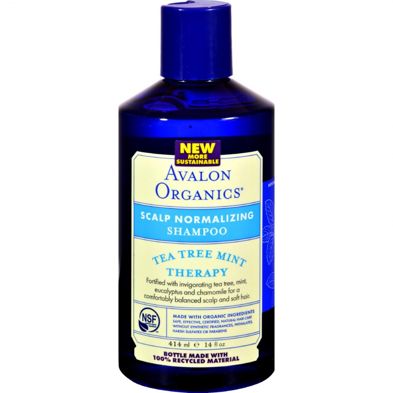 Avalon Organics Scalp Normalizing Shampoo Tea Tree Mint Therapy - 14 fl oz