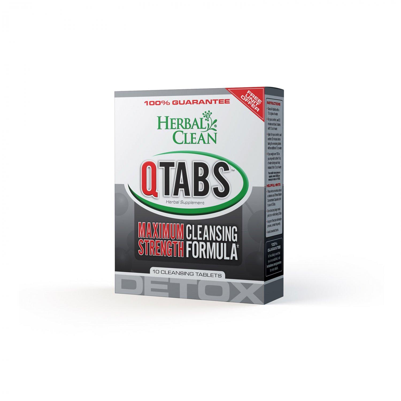 Herbal Clean Detox QTabs Maximum Strength Cleansing Formula - 10 Tablets