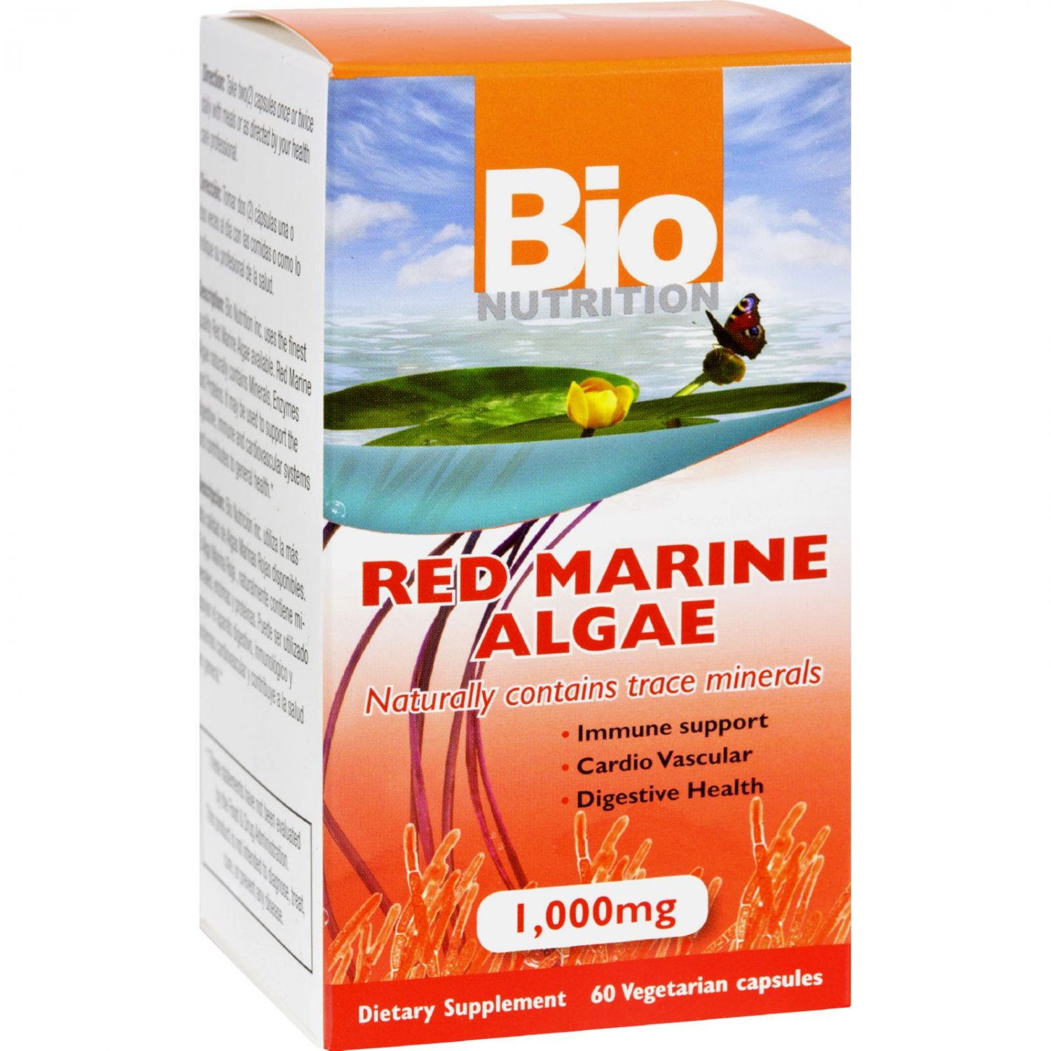 Bio Nutrition Red Marine Algae - 1000 mg - 60 Vegetarian Capsules