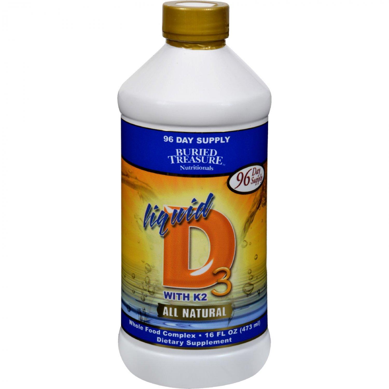 Buried Treasure Liquid D3 with K2 - 16 fl oz