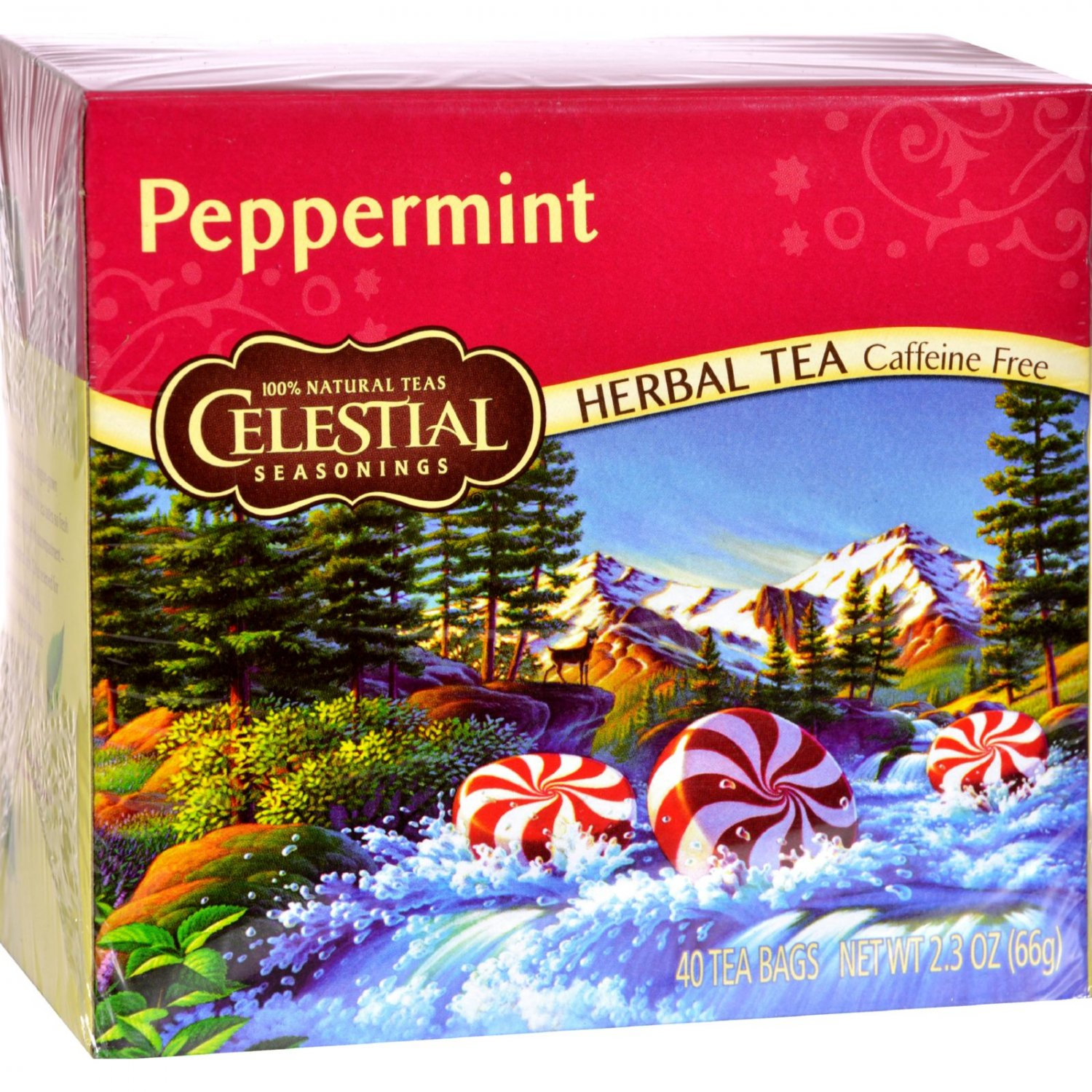 Celestial Seasonings Herbal Tea - Peppermint - 40 Bags (Pack of 3)