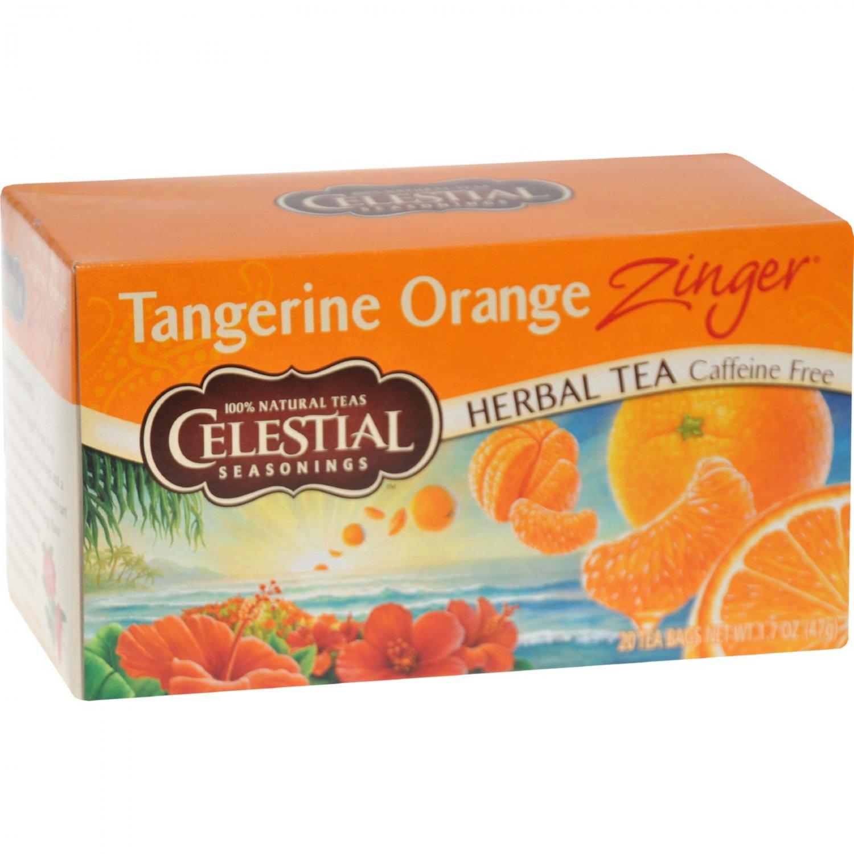Celestial Seasonings Herb Tea Tangerine Orange Zinger - 20 Tea Bags - Case of 6