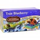 Celestial Seasonings Herbal Tea Caffeine Free True Blueberry - 20 Tea Bags - Case of 6