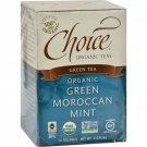 Choice Organic Teas Green Moroccan Mint Tea - 16 Tea Bags - Case of 6