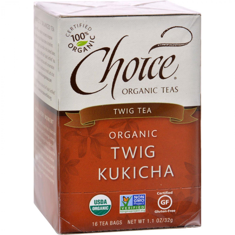 Choice Organic Teas Twig Tea Twig Kukicha - 16 Tea Bags - Case of 6