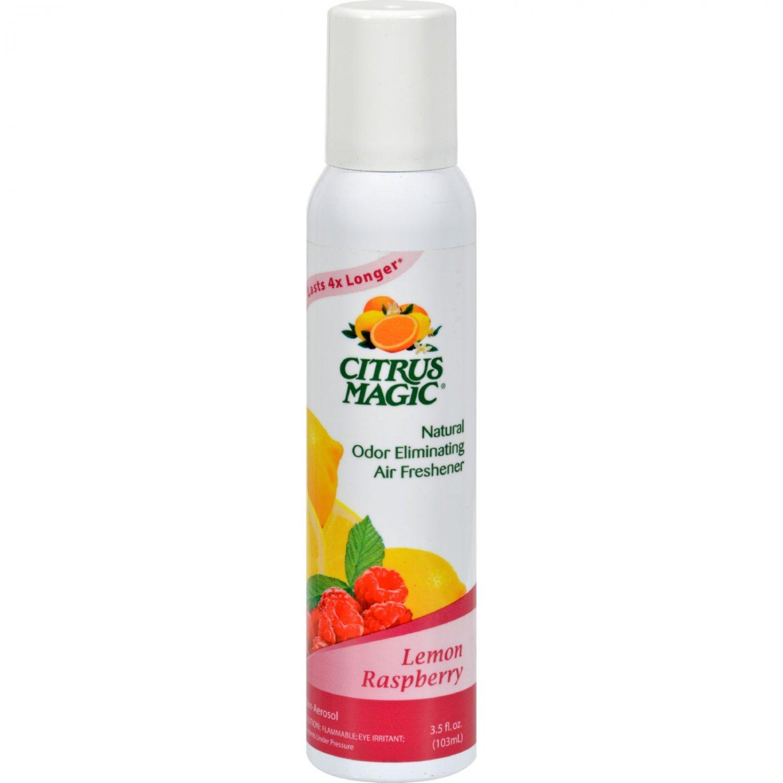Citrus Magic Natural Odor Eliminating Air Freshener - Lemon Raspberry - 3.5 fl oz - Case of 6