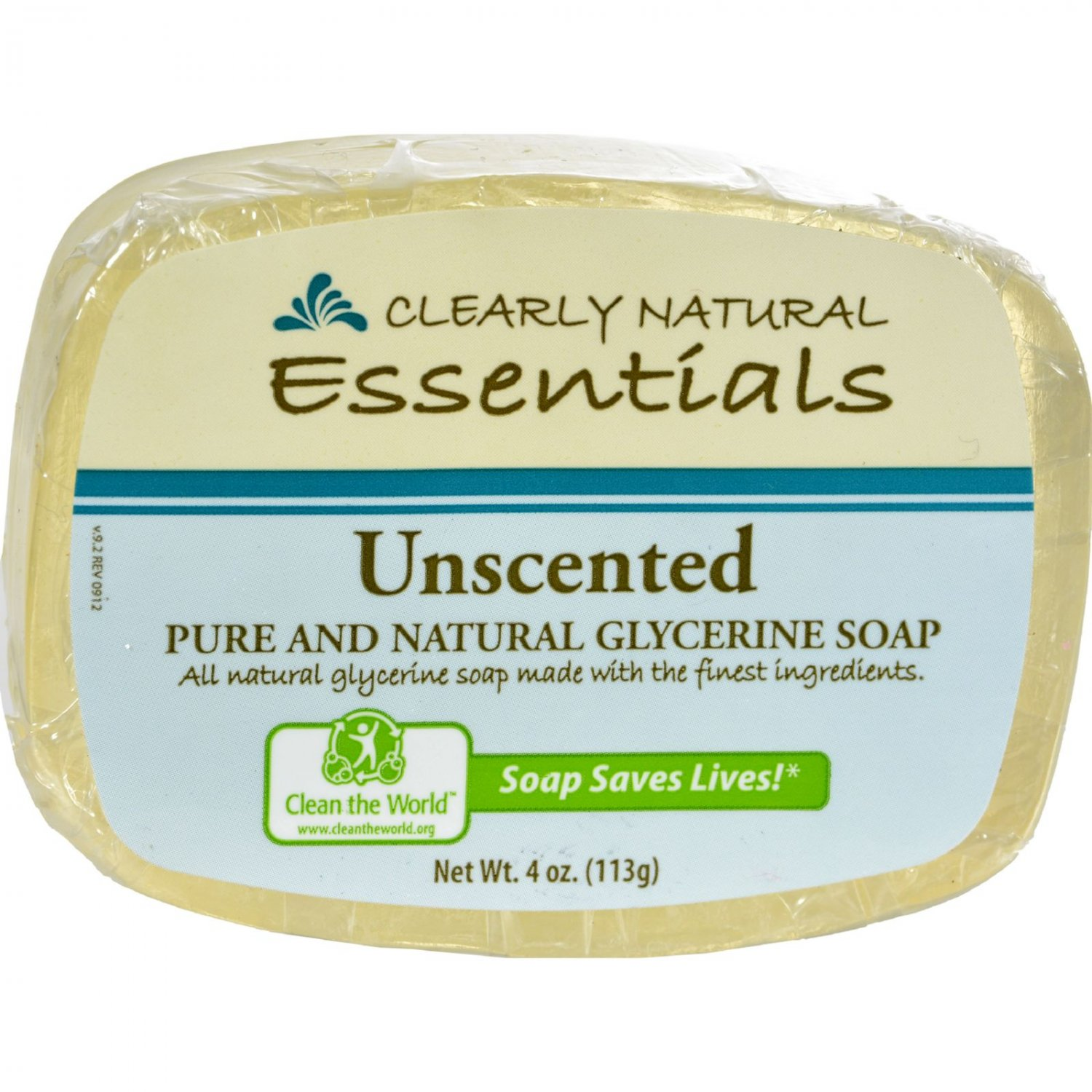 Clearly Natural Glycerine Bar Soap Unscented - 4 oz