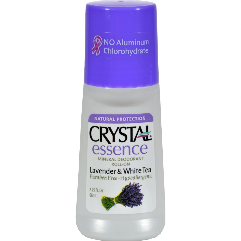 Crystal Essence Roll On Deodorant Lavender and White Tea - 2.25 fl oz
