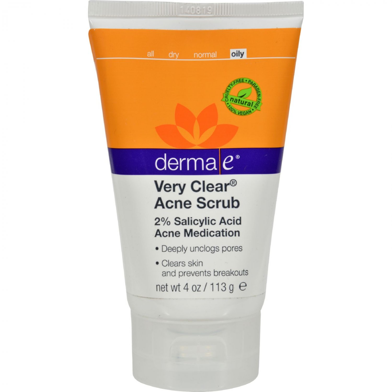 Derma E Very Clear Cleansing Scrub - 4 fl oz
