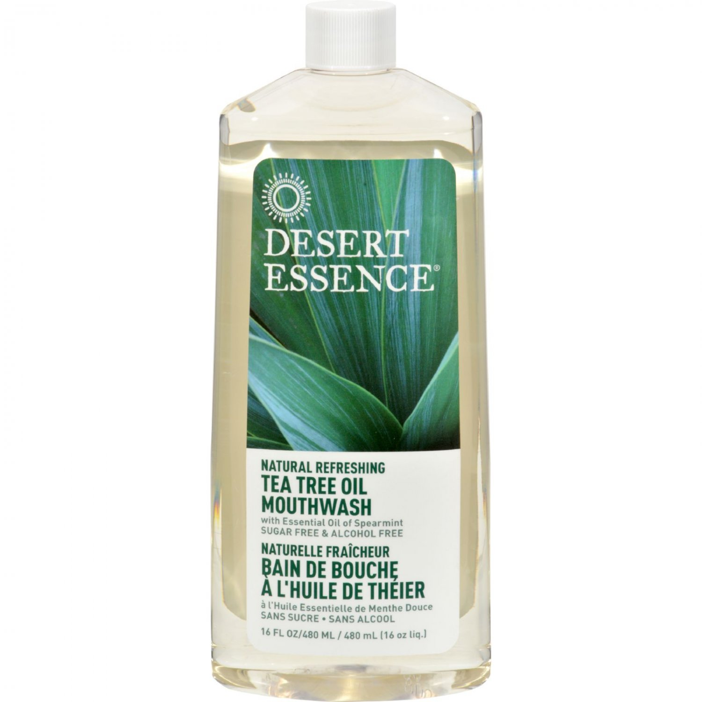 Desert Essence Natural Refreshing Tea Tree Oil Mouthwash - 16 fl oz