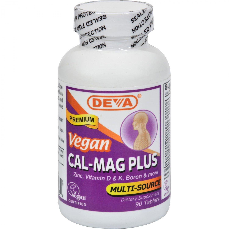 Deva Vegan Cal-Mag Plus - 90 Tablets