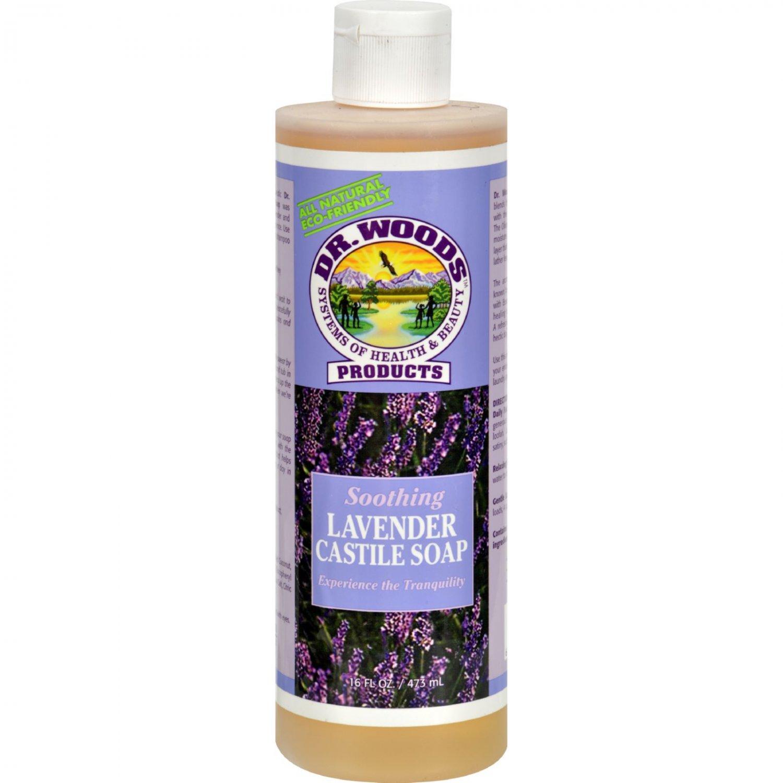 Dr. Woods Castile Soap Soothing Lavender - 16 fl oz