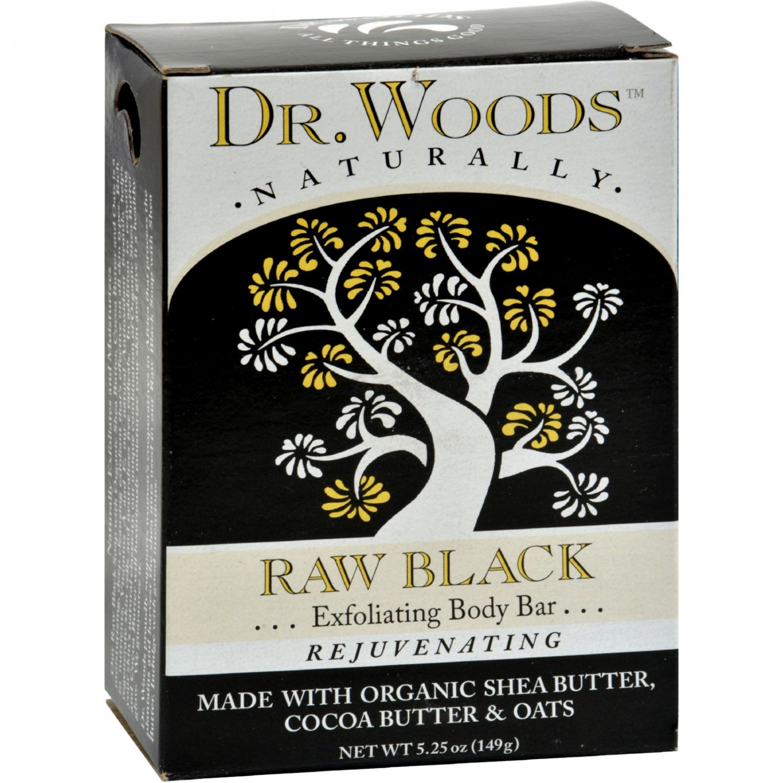 Dr. Woods Bar Soap Raw Black - 5.25 oz