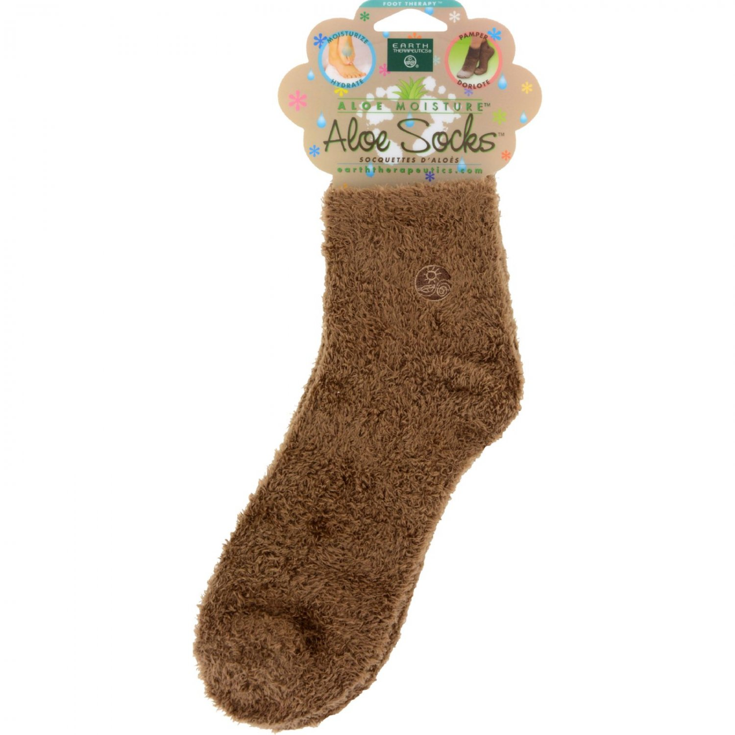 Earth Therapeutics Socks Infused Socks- Brown - Pair