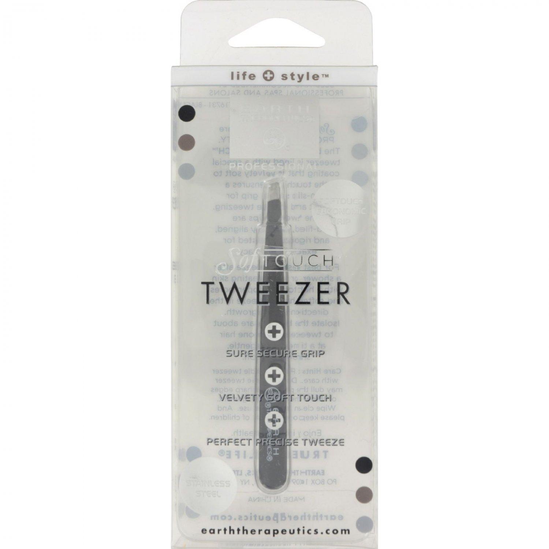 Earth Therapeutics Softouch Tweezer Black - 1 Unit