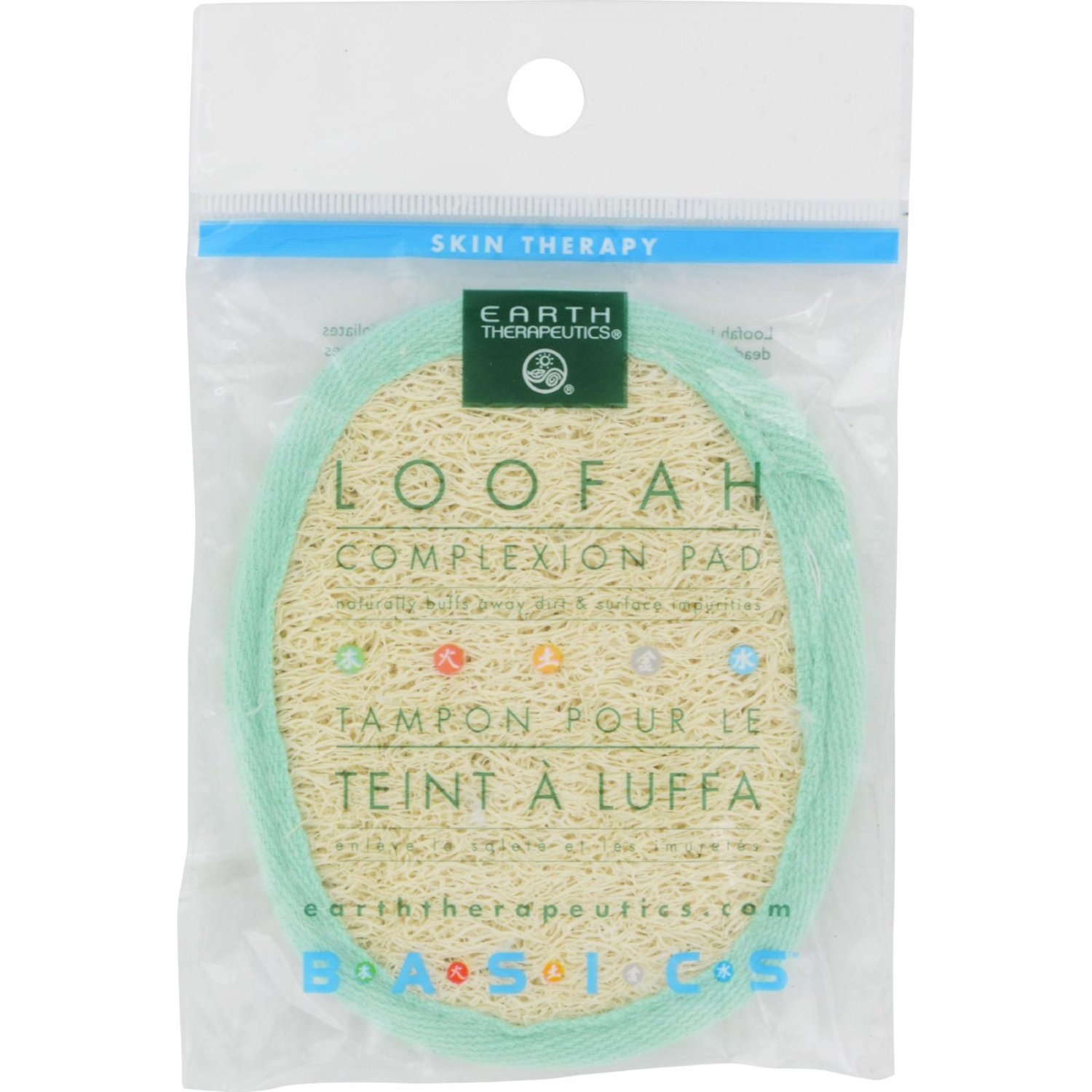 Earth Therapeutics Loofah Complexion Pad - 1 Pad