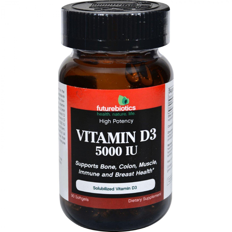FutureBiotics Vitamin D3 - 5000 IU - 90 Softgels
