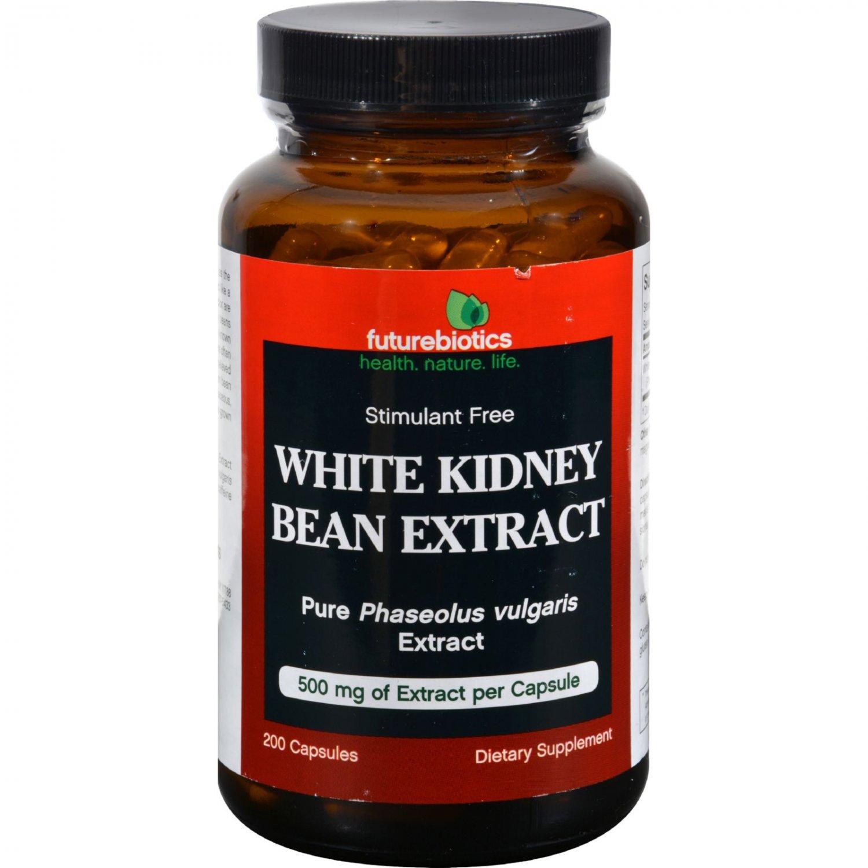 FutureBiotics White Kidney Bean Extract - 500 mg - 200 Capsules