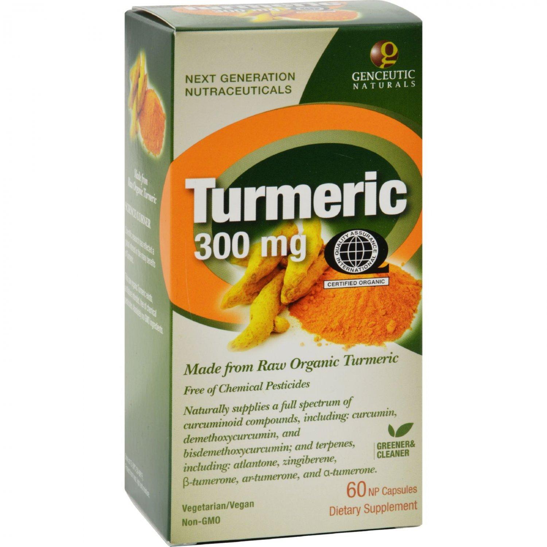 Genceutic Naturals Organic Turmeric - 300 mg - 60 Capsules