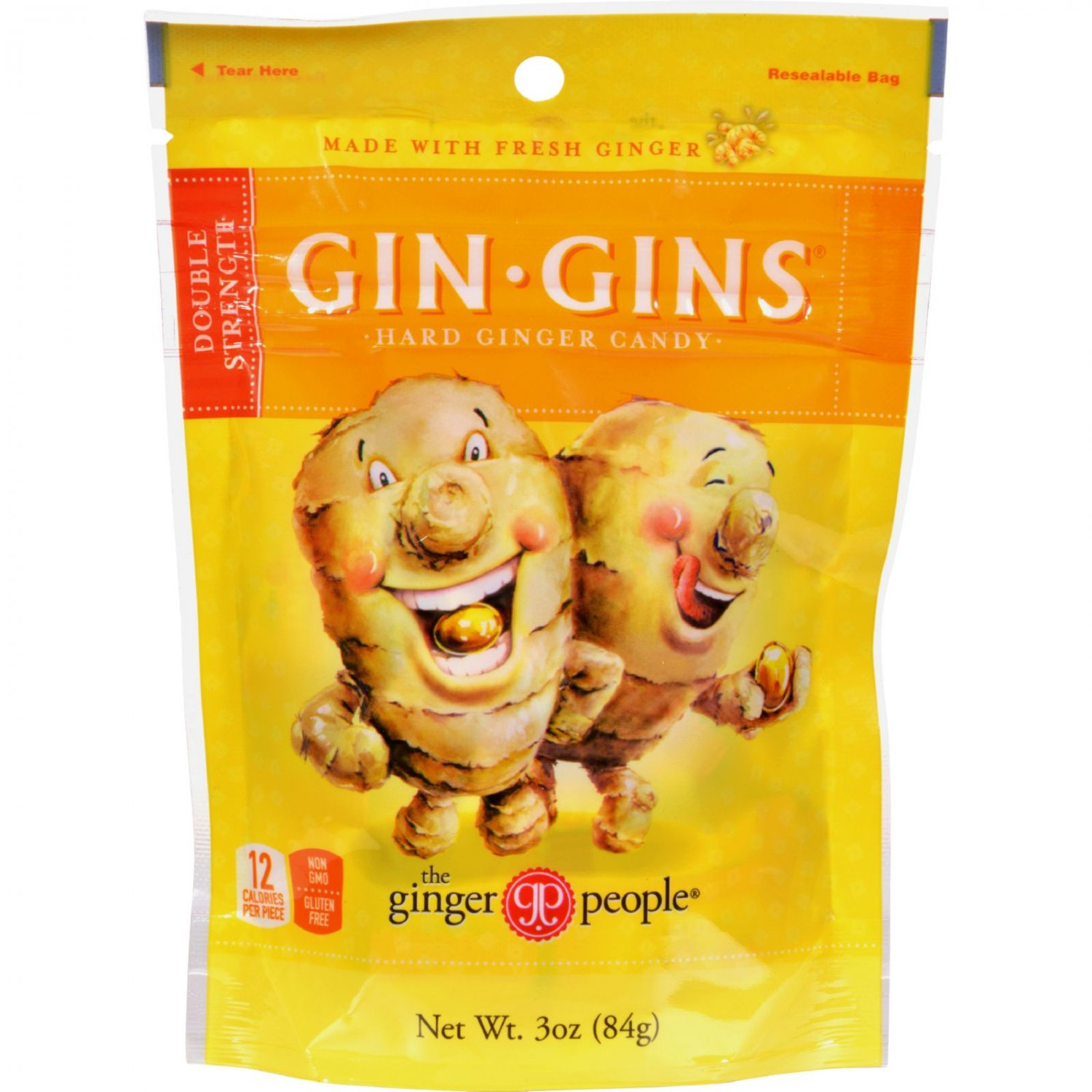 Ginger People Gin-Gins Hard Candy - 3 oz - Case of 24