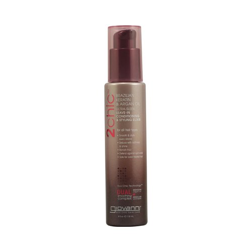 Giovanni 2chic Ultra-Sleek Leave-In Conditioning and Styling Elixir with Brazilian Keratin and Argan