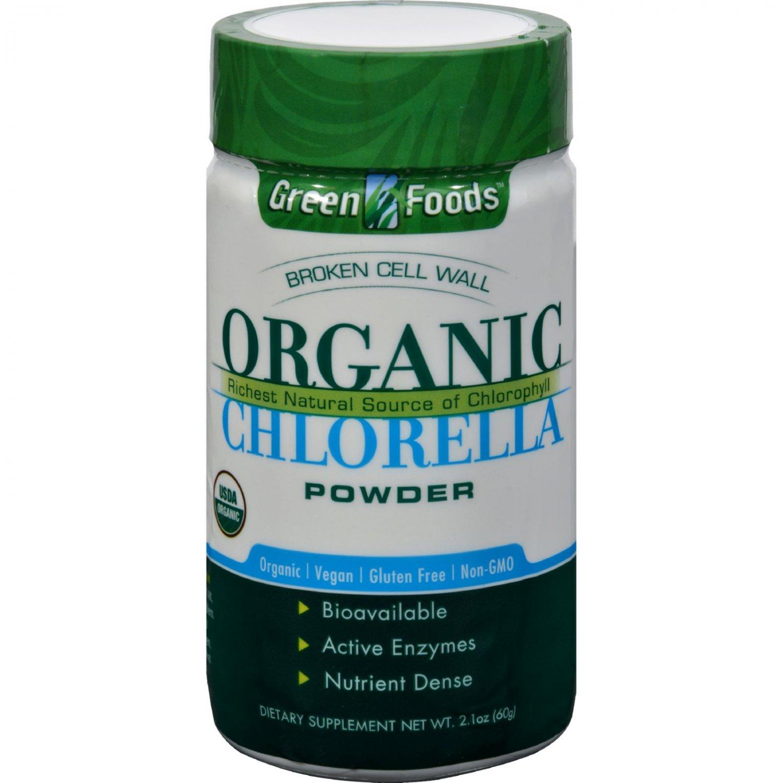 Green Foods Organic Chlorella Powder - 2.1 oz