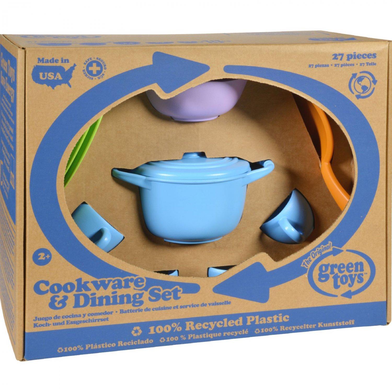 Green Toys Cookware and Dinnerware Set - 27 Piece Set