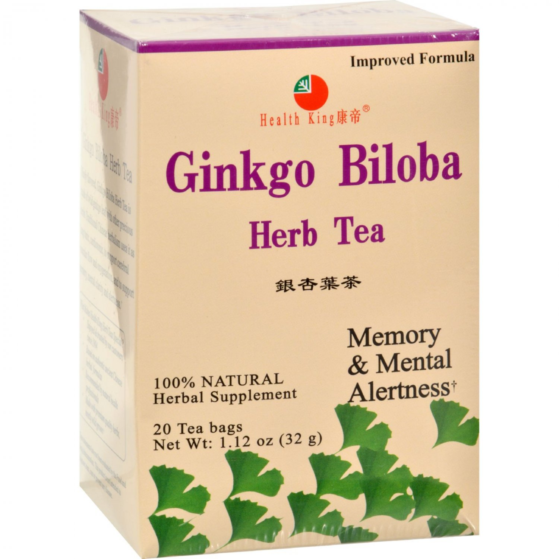 Health King Ginkgo Biloba Herb Tea - 20 Tea Bags