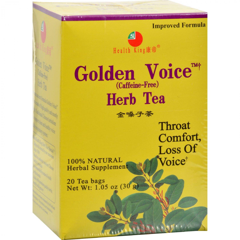 Health King Golden Voice Herb Tea - 20 Tea Bags