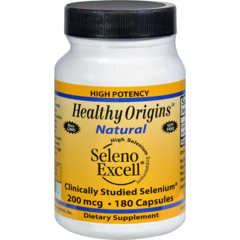 Healthy Origins Seleno Excell Selenium - 200 mcg - 180 Capsules
