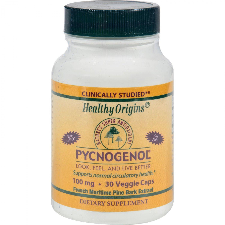 Healthy Origins Pycnogenol - 100 mg - 30 Vegetarian Capsules